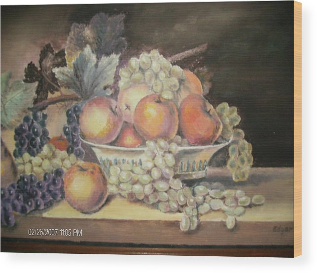 Fruit Wood Print featuring the painting Unknown by Anne-Elizabeth Whiteway