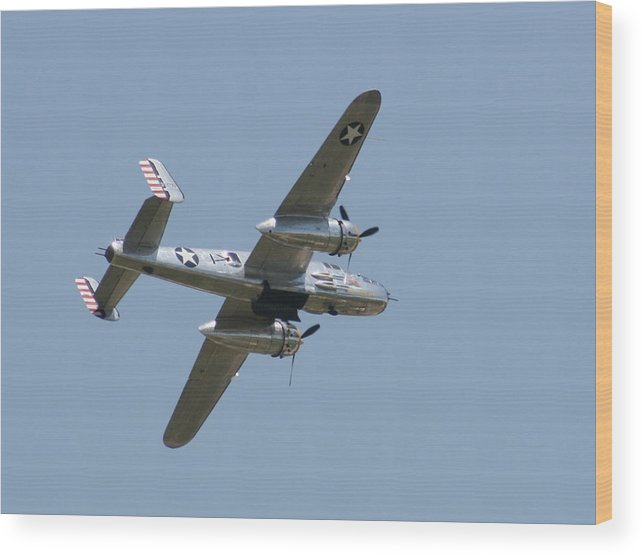 Air Wood Print featuring the photograph Wafb 09 B25 Mitchell Bomber 2 by David Dunham