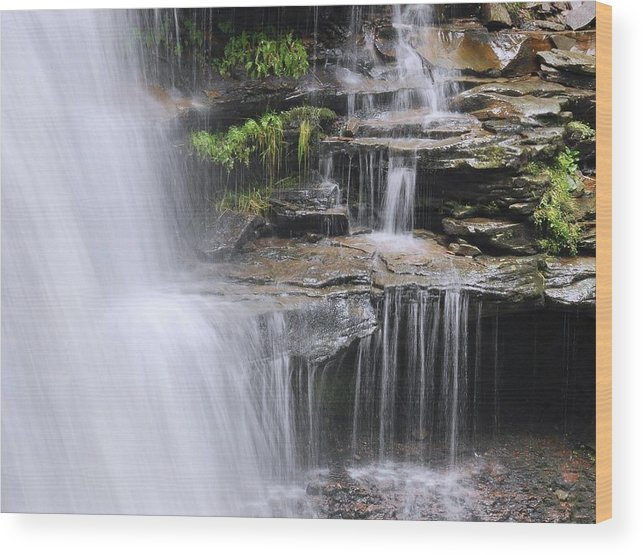 Waterfall Wood Print featuring the photograph Water Terrace by Stephen Vecchiotti