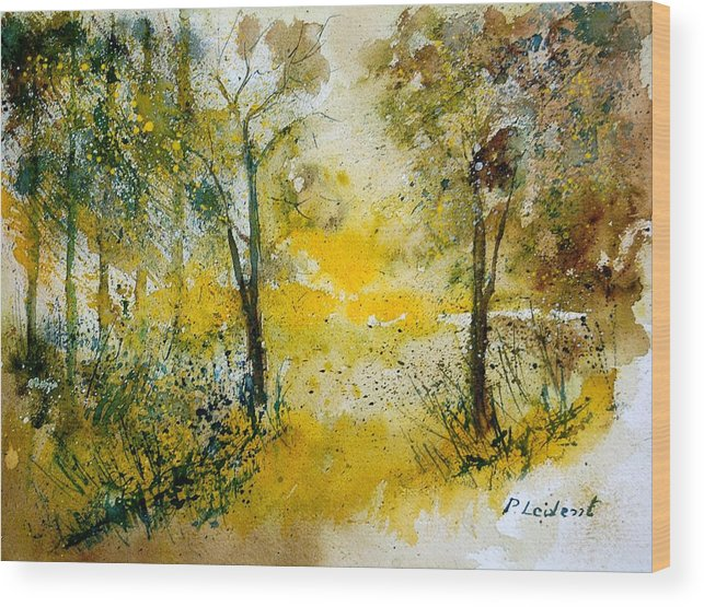 River Wood Print featuring the painting Watercolor 210108 by Pol Ledent