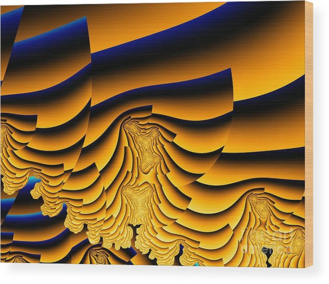 Fractal Image Wood Print featuring the digital art Waves Of Grain by Ron Bissett