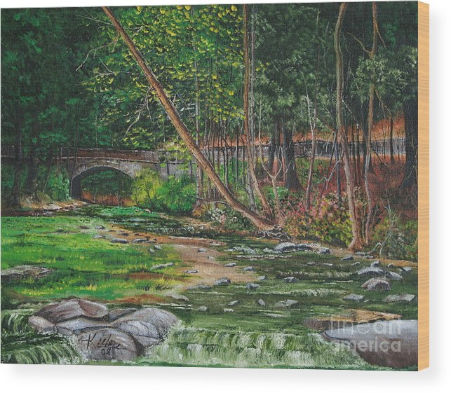 Oil Wood Print featuring the painting Wolf Creek Glen by Christopher Keeler Doolin