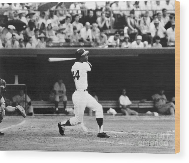 Sports Bat Wood Print featuring the photograph National Baseball Hall Of Fame Library 43 by National Baseball Hall Of Fame Library