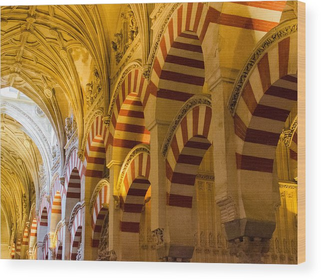 Cordoba Wood Print featuring the photograph Mosque Cathedral Of Cordoba by Andrea Mazzocchetti