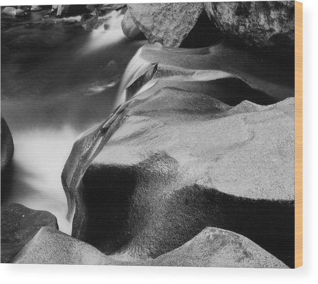 Landscape Wood Print featuring the photograph Cascade by Allan McConnell