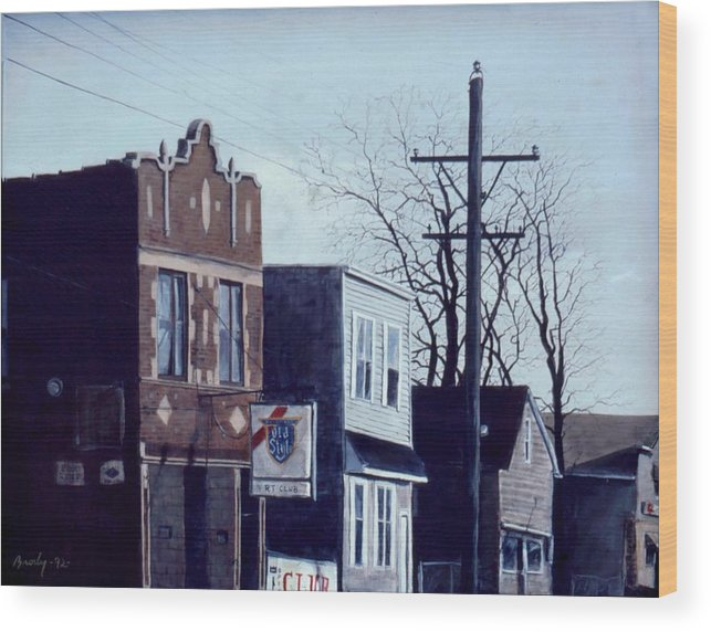 Urban Wood Print featuring the painting Halsted by William Brody