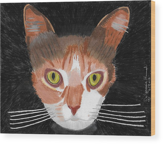 Cats Wood Print featuring the painting I Do Live Very Well by Dr Jessie Hummel