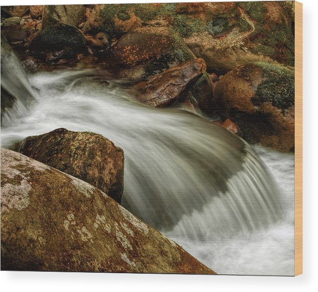 Water Wood Print featuring the photograph Go With The Flow by Dave Bosse