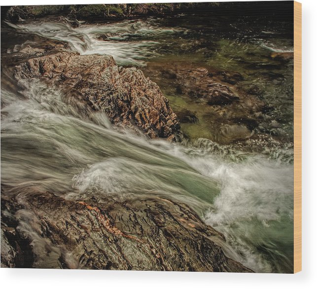 Water Wood Print featuring the photograph Green Stream by Dave Bosse