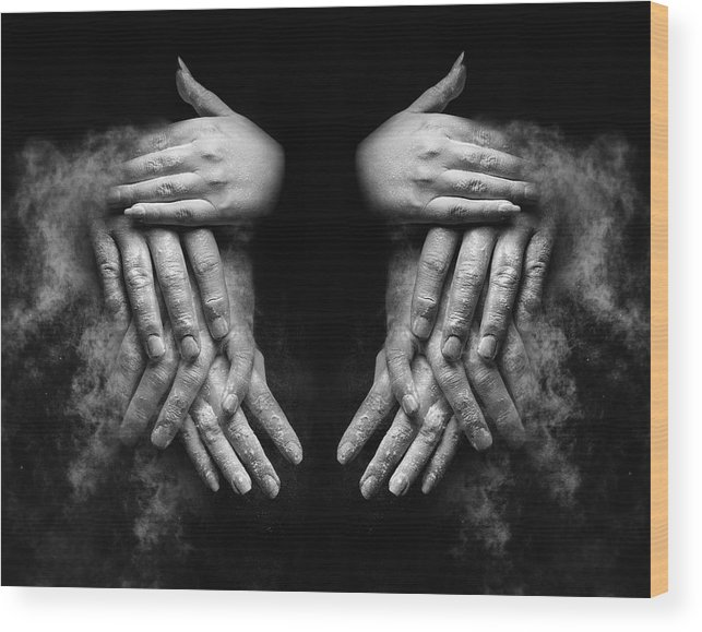 Hands Wood Print featuring the photograph Remembrance by Anna Gunn