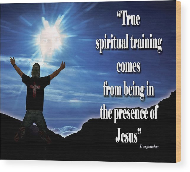 Inspiration Wood Print featuring the photograph Spiritual Training by Vanessa Hensel