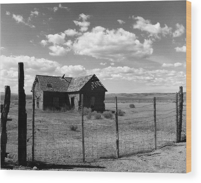 Old West Wood Print featuring the photograph Adobe Homestead by Allan McConnell