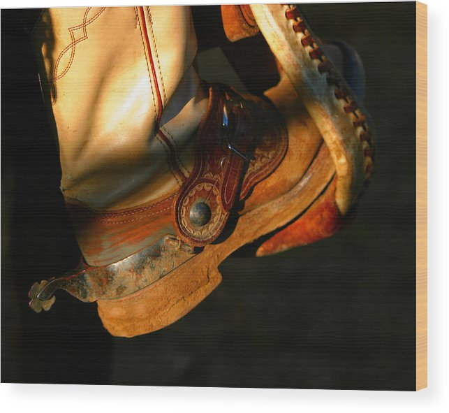 Rodeo Wood Print featuring the photograph Ready To Run.. by Carol Miller