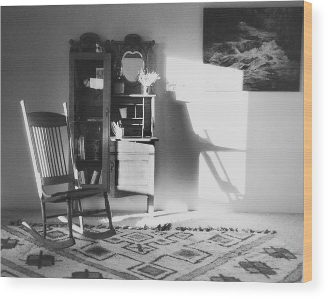 House Wood Print featuring the photograph Shadow Time by Allan McConnell