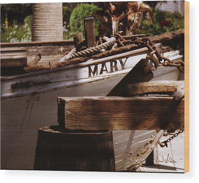 Boat Wood Print featuring the photograph Someting About Mary by David Starnes