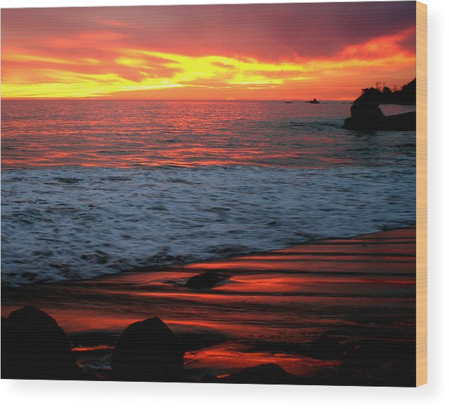 Sunset Wood Print featuring the photograph Sunset At The Bu by Jeff Cornette  InTheZonePhotography