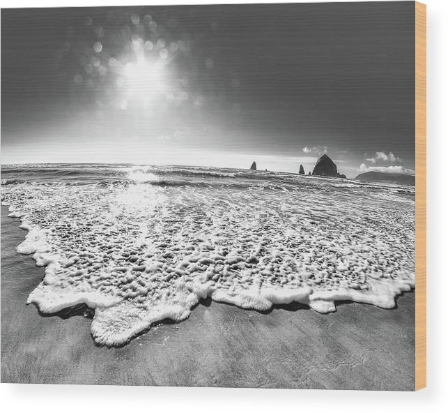 Beach Wood Print featuring the photograph 8-mm Magic by Sara Absher