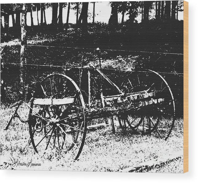 Farm Equipment Wood Print featuring the photograph Days Gone By 2 by Lorraine Louwerse