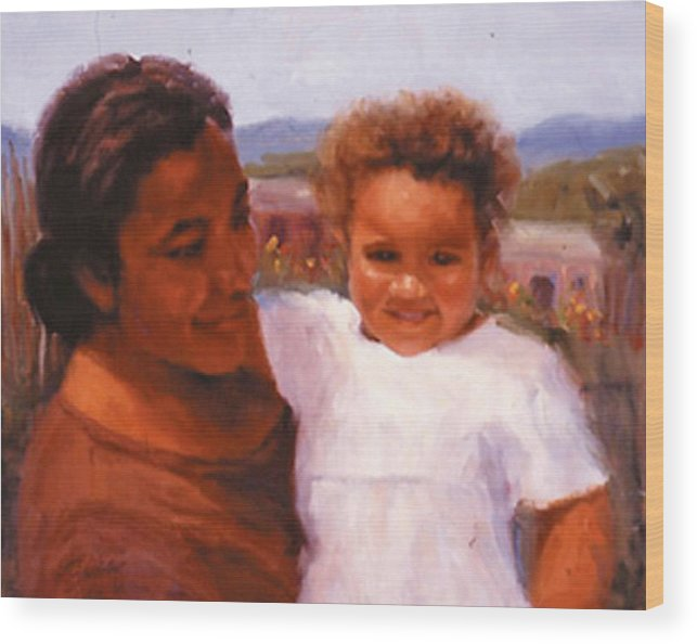 Mother Wood Print featuring the painting Esperanza by Bunny Oliver