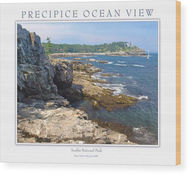 Landscape Wood Print featuring the photograph Precipice Ocean View by Peter Muzyka