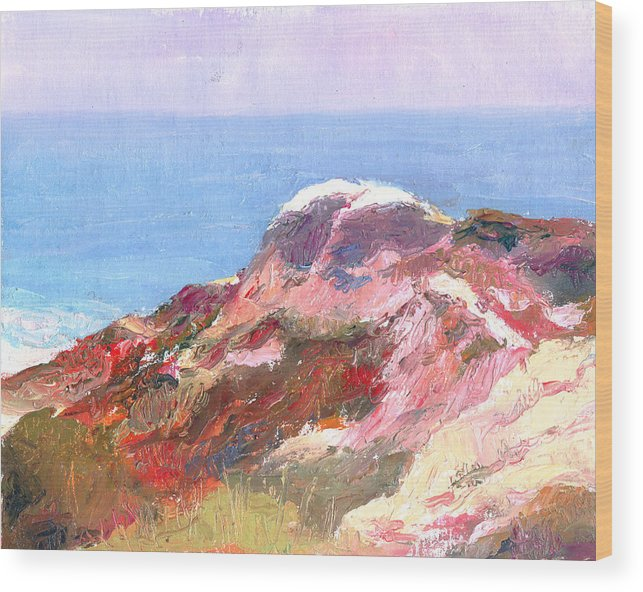 Landscape Wood Print featuring the painting San Clemente Overlook by Timothy Chambers