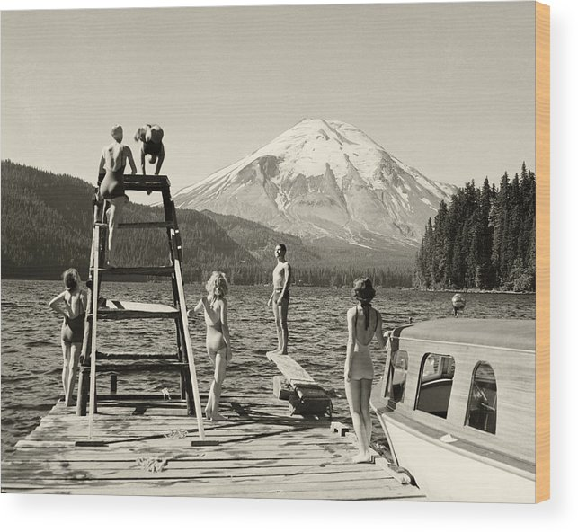 Wood Print featuring the photograph Spirit Lake by Ray Atkinsen