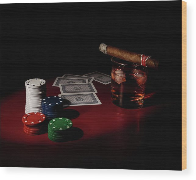 Cards Wood Print featuring the photograph The Gambler by Tom Mc Nemar