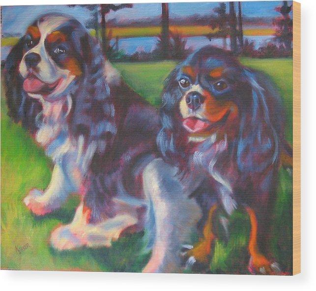 Cavalier Wood Print featuring the painting Couple Of Hotties by Kaytee Esser