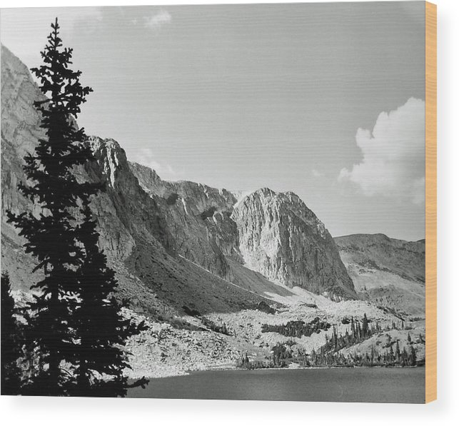 Landscape Wood Print featuring the photograph Below Medicine Bow by Allan McConnell