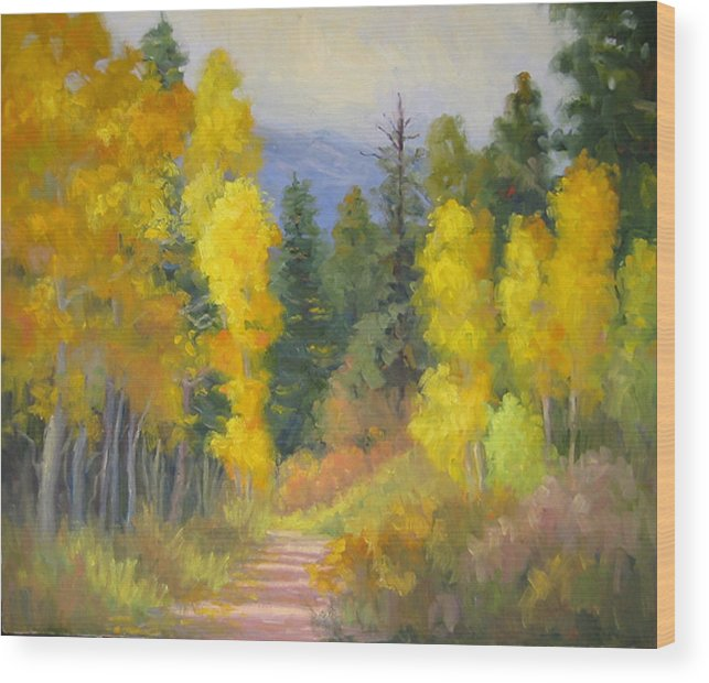 Autumn Wood Print featuring the painting Autumn Ambience by Bunny Oliver