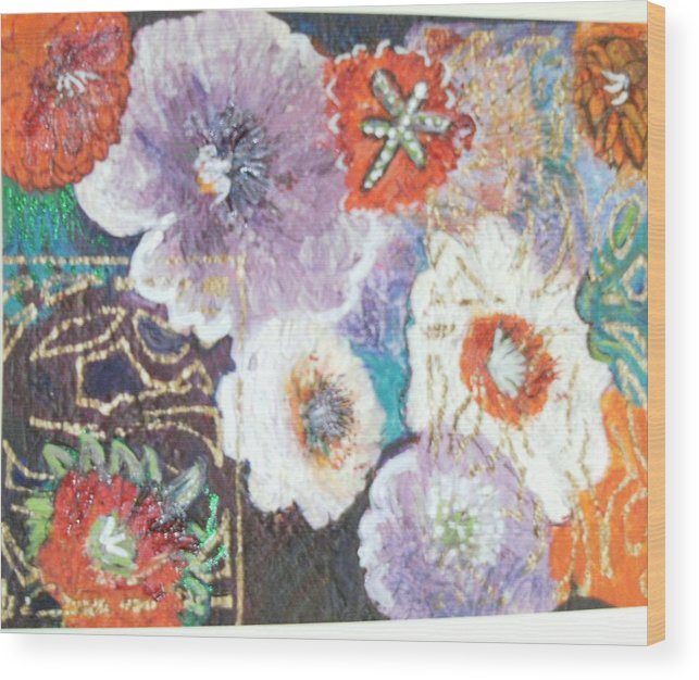 Wood Print featuring the mixed media Naturally Rich by Anne-Elizabeth Whiteway