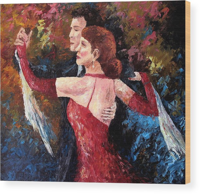 Tango Wood Print featuring the painting Two To Tango by David G Paul