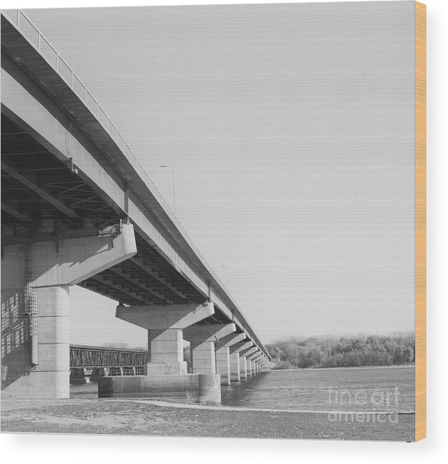 Architecture Wood Print featuring the photograph Bridge Over Troubled Water by Randy W Riddle