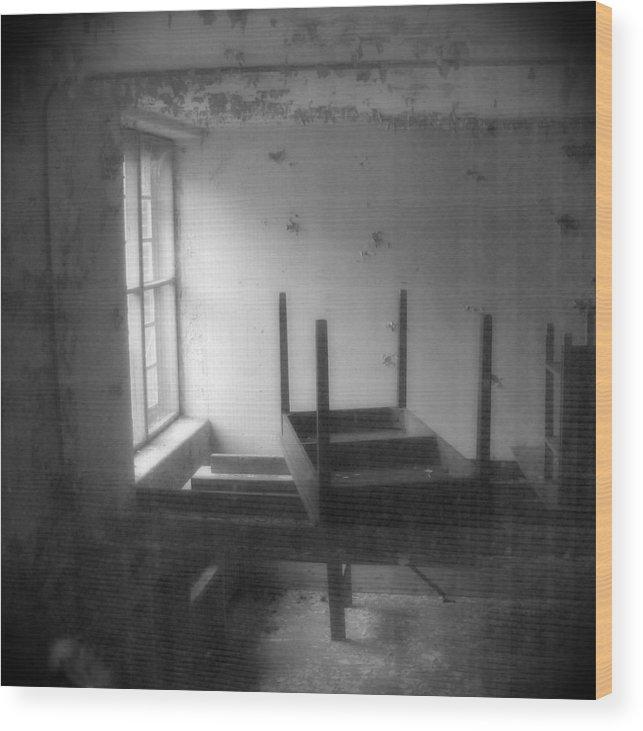 Holga Wood Print featuring the photograph Cries  Still  Heard by Steve Parrott