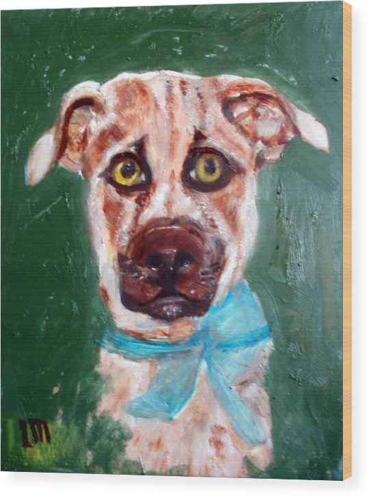 Animals Wood Print featuring the painting Golden by Lia Marsman
