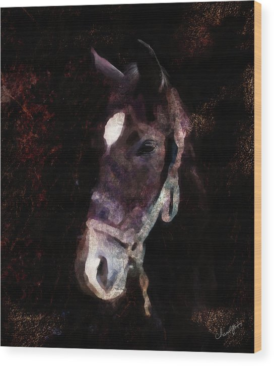 Horse Wood Print featuring the digital art Horse Study #4 by Everlasting Equine Horse Art