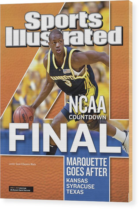 Hubert H. Humphrey Metrodome Wood Print featuring the photograph 2003 Ncaa Final Four Countdown Sports Illustrated Cover by Sports Illustrated