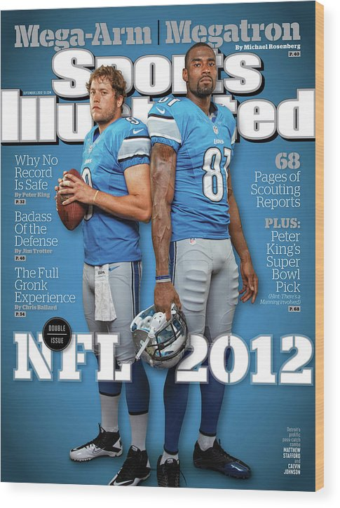 Magazine Cover Wood Print featuring the photograph 2012 Nfl Football Preview Issue Sports Illustrated Cover by Sports Illustrated