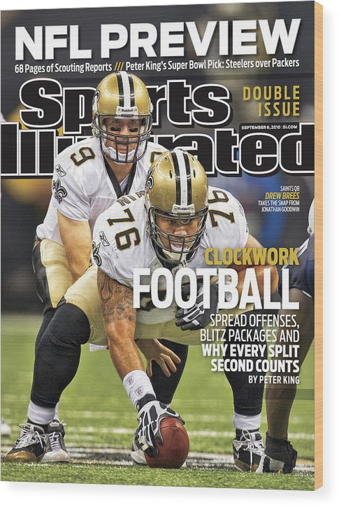 Magazine Cover Wood Print featuring the photograph San Diego Chargers V New Orleans Saints Sports Illustrated Cover by Sports Illustrated