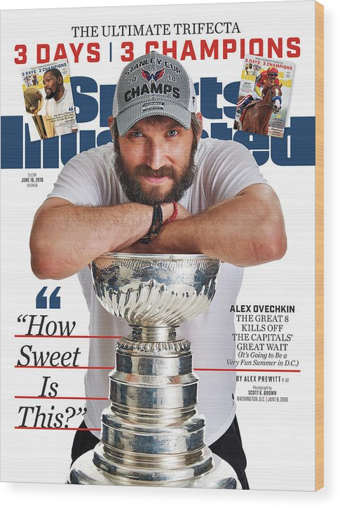 Magazine Cover Wood Print featuring the photograph The Ultimate Trifecta 3 Days, 3 Champions Sports Illustrated Cover by Sports Illustrated