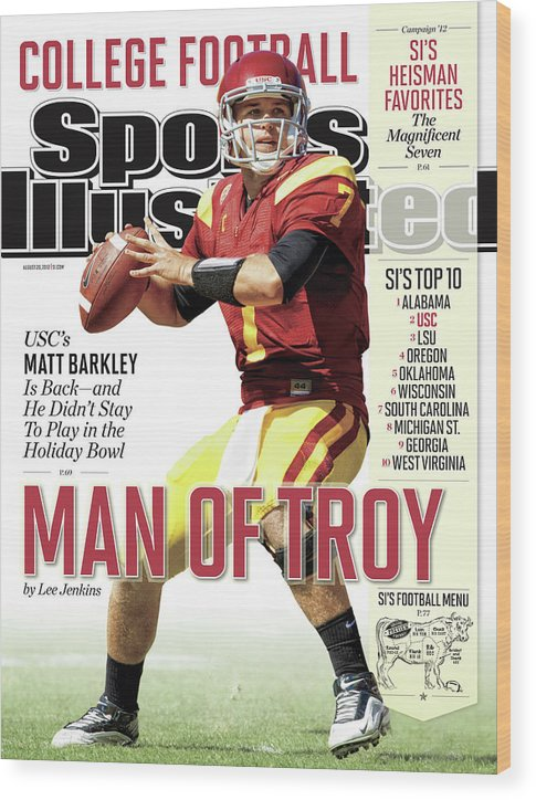 Magazine Cover Wood Print featuring the photograph 2012 College Football Preview Issue Sports Illustrated Cover by Sports Illustrated