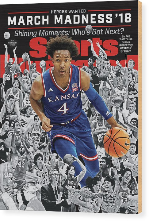 Magazine Cover Wood Print featuring the photograph 2018 March Madness College Basketball Preview Issue Sports Illustrated Cover by Sports Illustrated