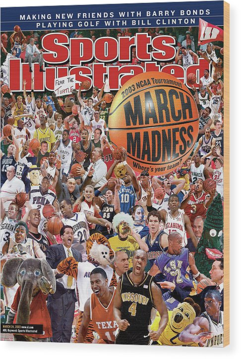 Magazine Cover Wood Print featuring the photograph 2003 March Madness College Basketball Preview Sports Illustrated Cover by Sports Illustrated
