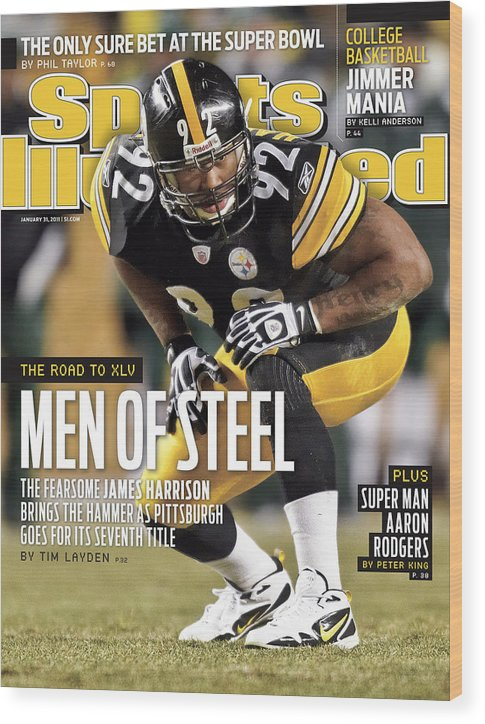 Magazine Cover Wood Print featuring the photograph 2011 Afc Championship New York Jets V Pittsburgh Steelers Sports Illustrated Cover by Sports Illustrated