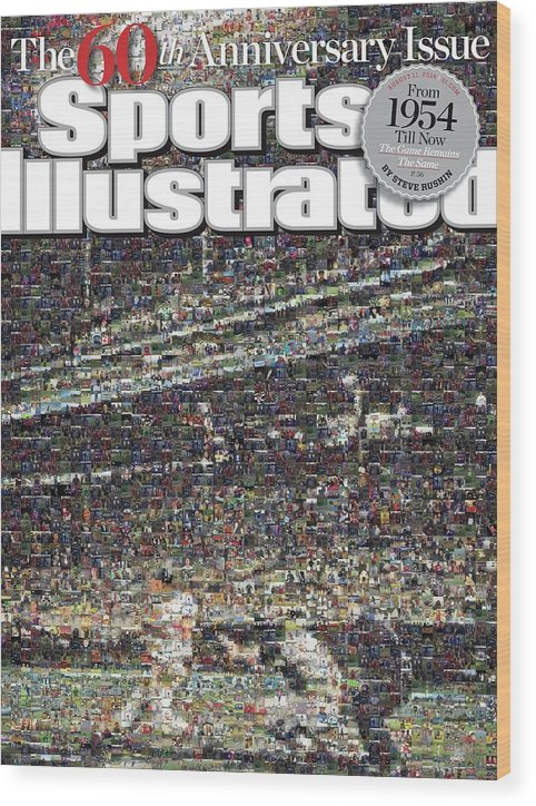 Magazine Cover Wood Print featuring the photograph 60th Anniversary Issue Sports Illustrated Cover by Sports Illustrated