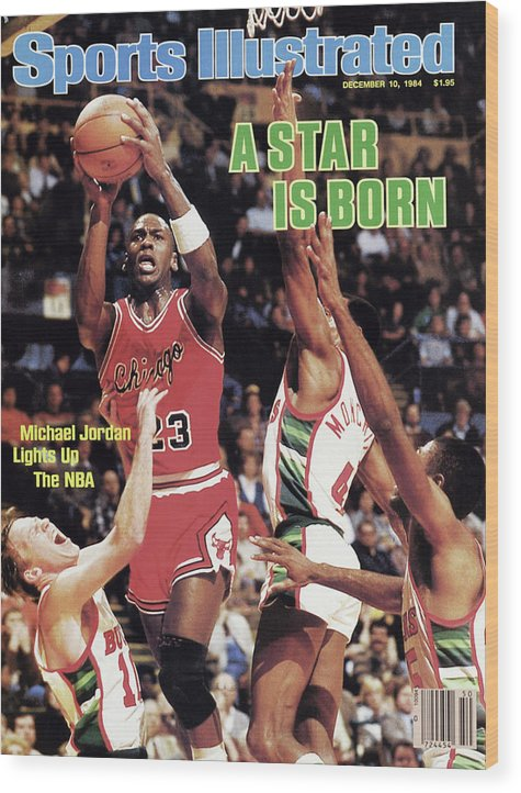 Chicago Bulls Wood Print featuring the photograph A Star Is Born Michael Jordan Lights Up The Nba Sports Illustrated Cover by Sports Illustrated