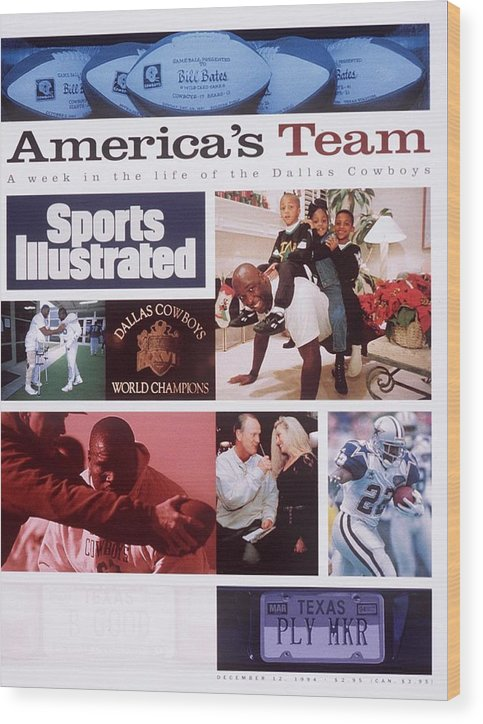 Magazine Cover Wood Print featuring the photograph A Week In The Life Of The Dallas Cowboys Sports Illustrated Cover by Sports Illustrated