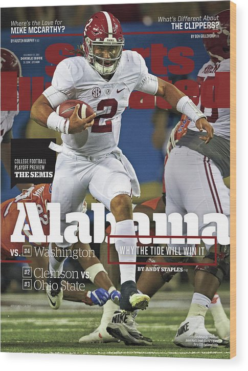 Atlanta Wood Print featuring the photograph Alabama Why The Tide Will Win It, 2016 College Football Sports Illustrated Cover by Sports Illustrated