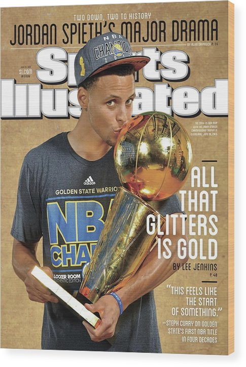 Magazine Cover Wood Print featuring the photograph All That Glitters Is Gold Sports Illustrated Cover by Sports Illustrated