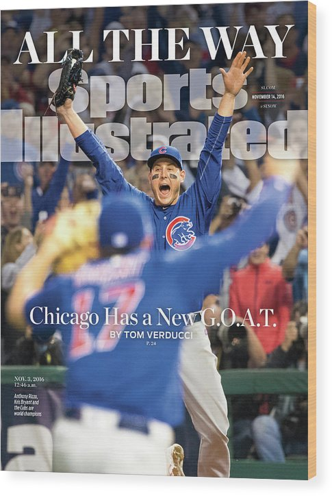 Magazine Cover Wood Print featuring the photograph All The Way Chicago Has A New G.o.a.t. Sports Illustrated Cover by Sports Illustrated